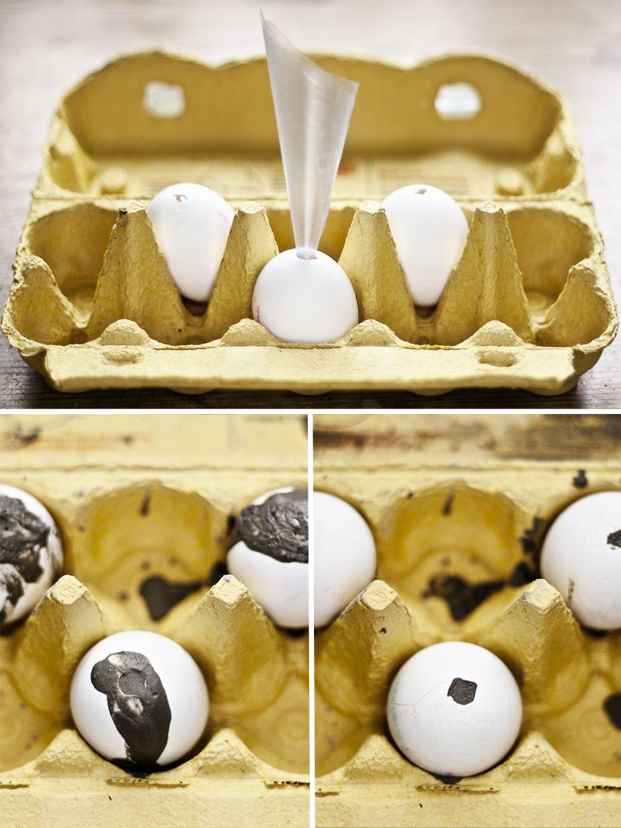 diy betoneier eier mit beton zement bef llen basteln pinterest. Black Bedroom Furniture Sets. Home Design Ideas