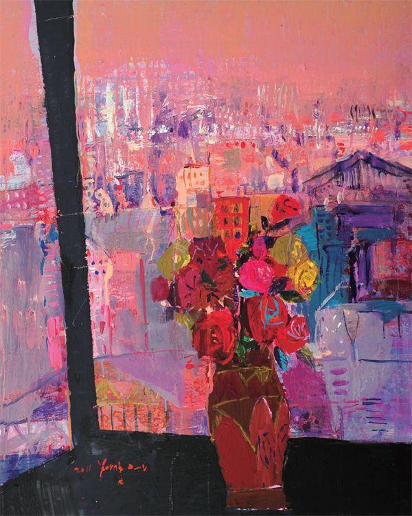 신영은 SHIN, Young-Eun / Look out the window / 90.9 x 60.6cm / Oil on canvas / 2011