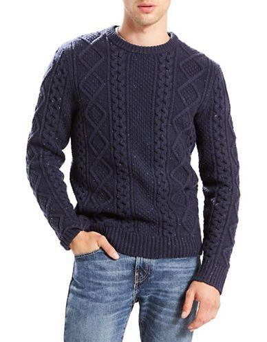 b6e15884f LEVI S Levi S Fisherman Cable-Knit Sweater.  levis  cloth