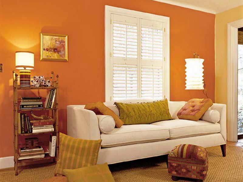 Walls Colors For Living Room Living Room Orange Living Room