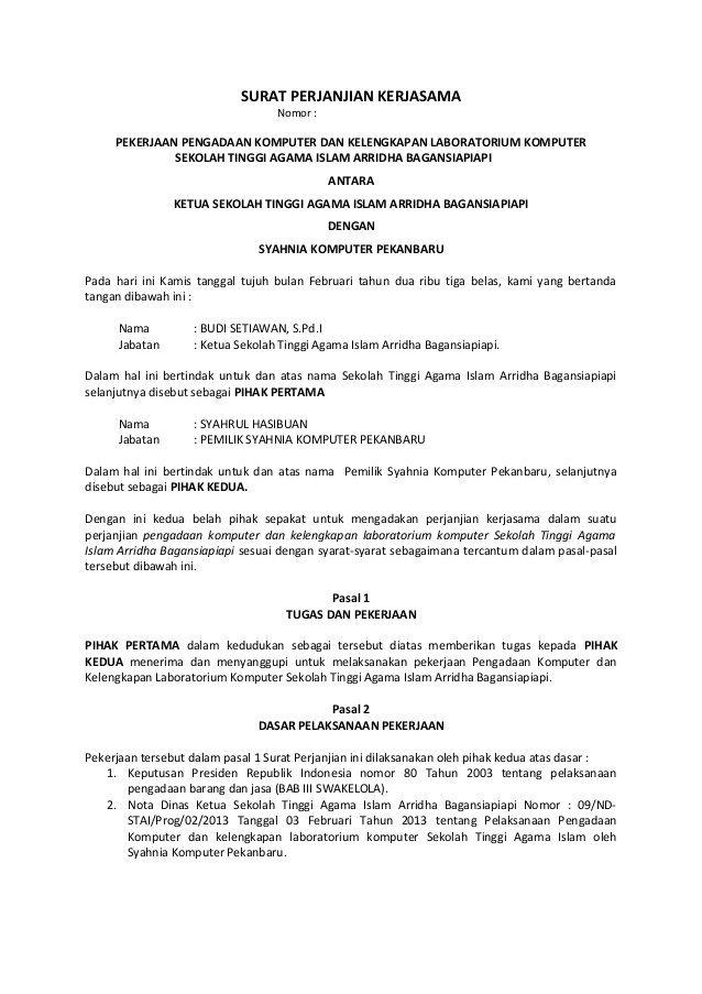 Contoh Surat Perjanjian Kontrak Rumah Ukm Blog Places To Visit