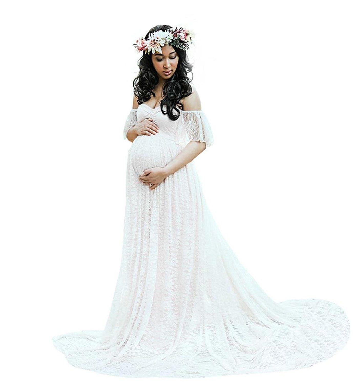 Hochzeitskleid für Schwangere,ZEZKT Kleider für Schwangere Foto ...