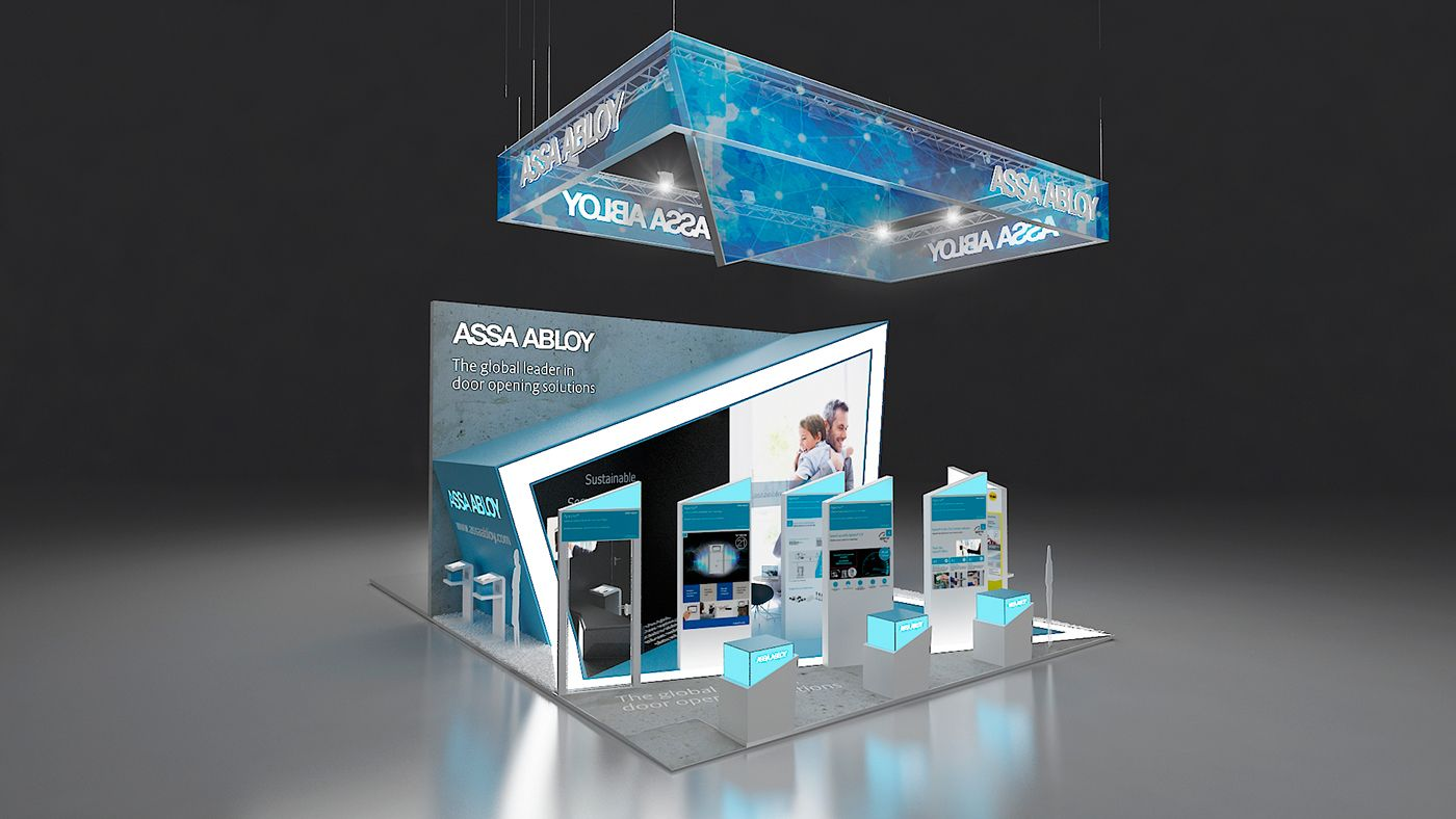 Exhibition Booth Concept : Concept for assa abloy on behance id exhibition design