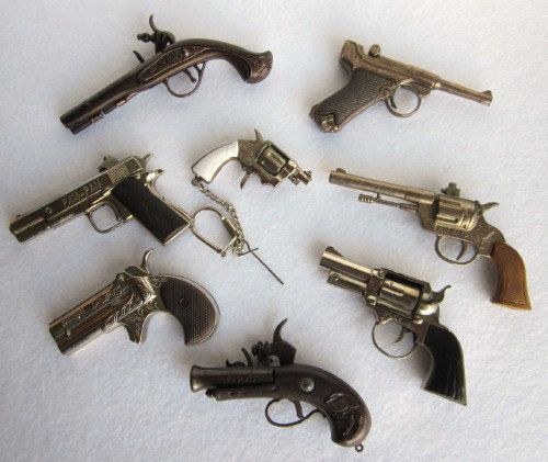 Instant collection. Vintage Miniature Toy Cap Guns.