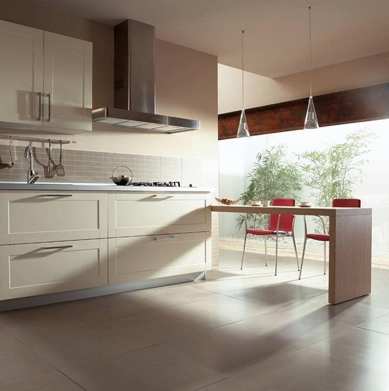 Cocinas color vainilla - Imagenes De Cocinas