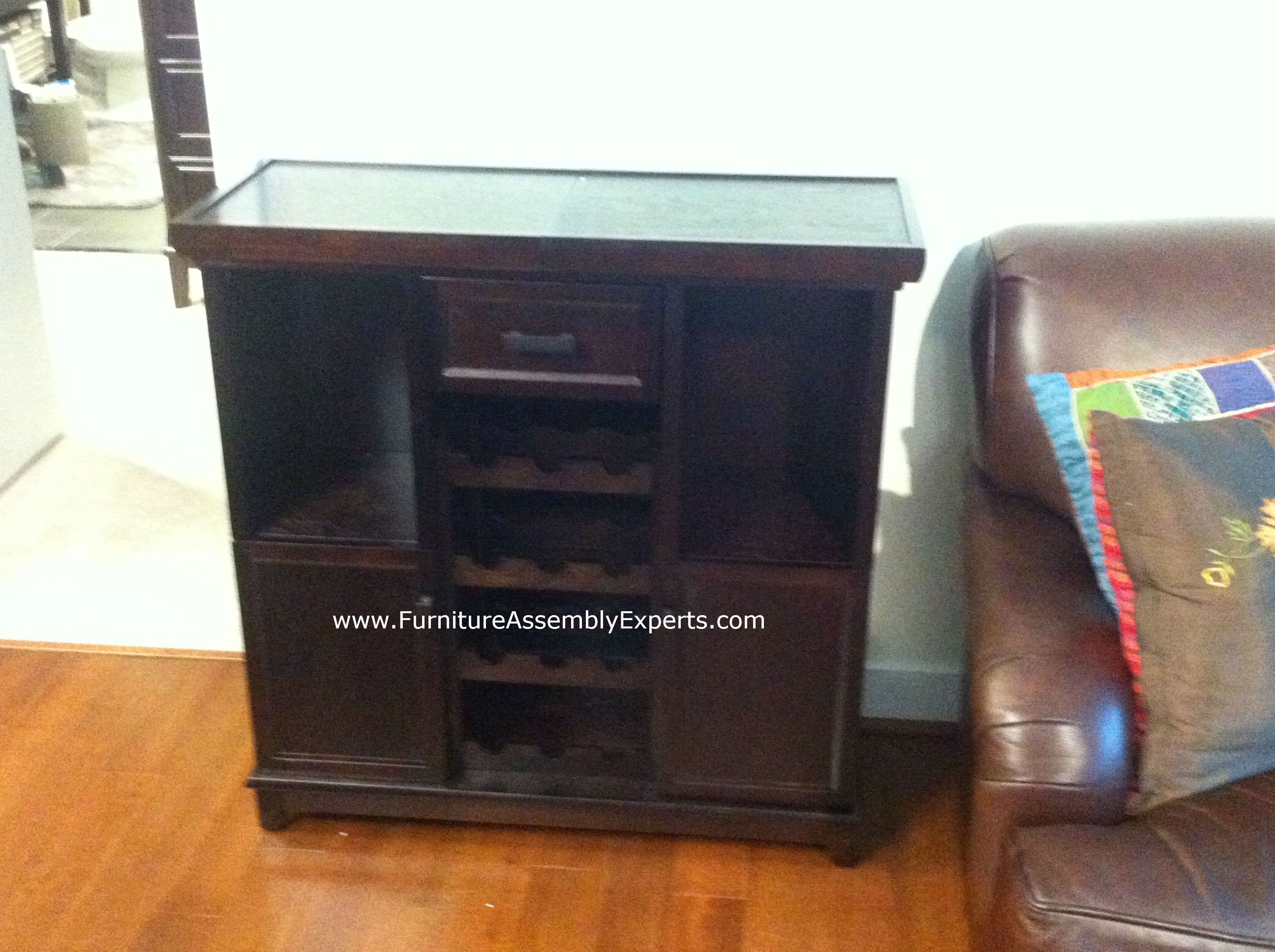 bed bath and beyond Tuscan Expandable Wine Bar assembled in ...