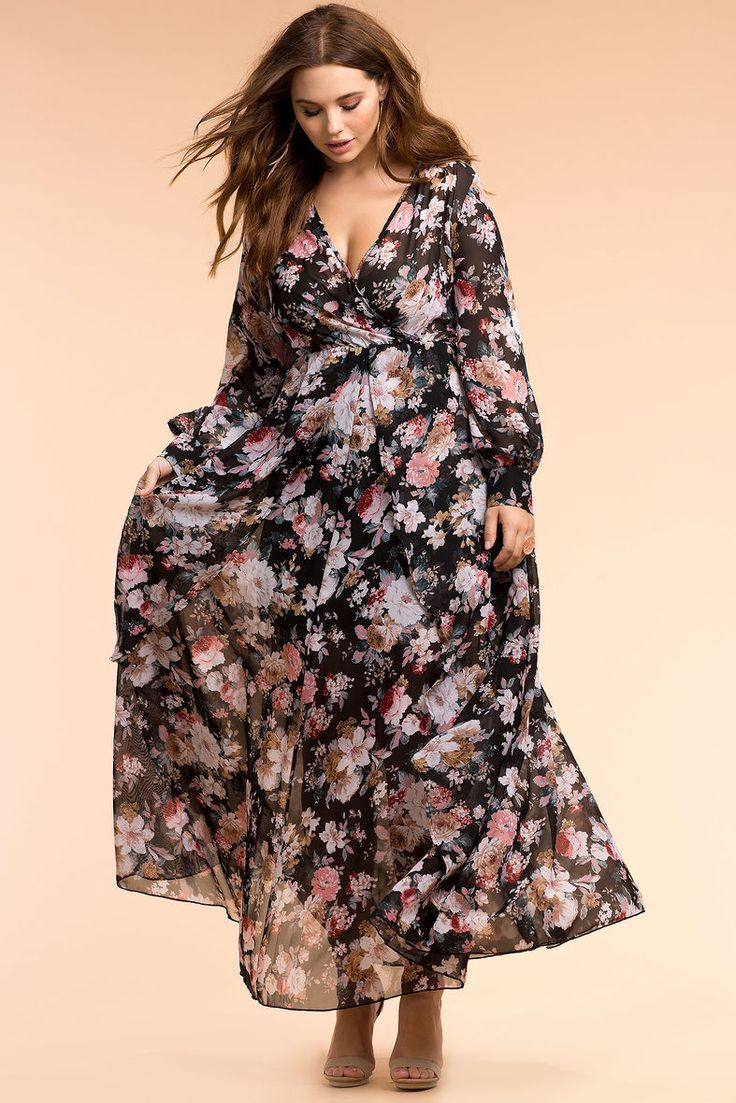 Plus Size Maxi Dress | Plus size maxi dresses, Plus size ...