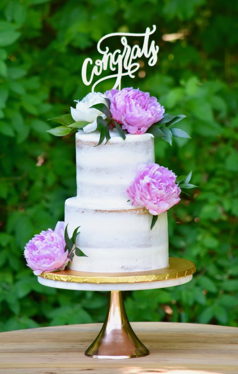 Peony Naked Cake - Sugar And Bloom Cake Company  Floral -1079
