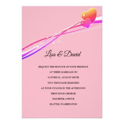 Wedding Invitation-Two Hearts Card - #bride gifts #bridal ideas ...