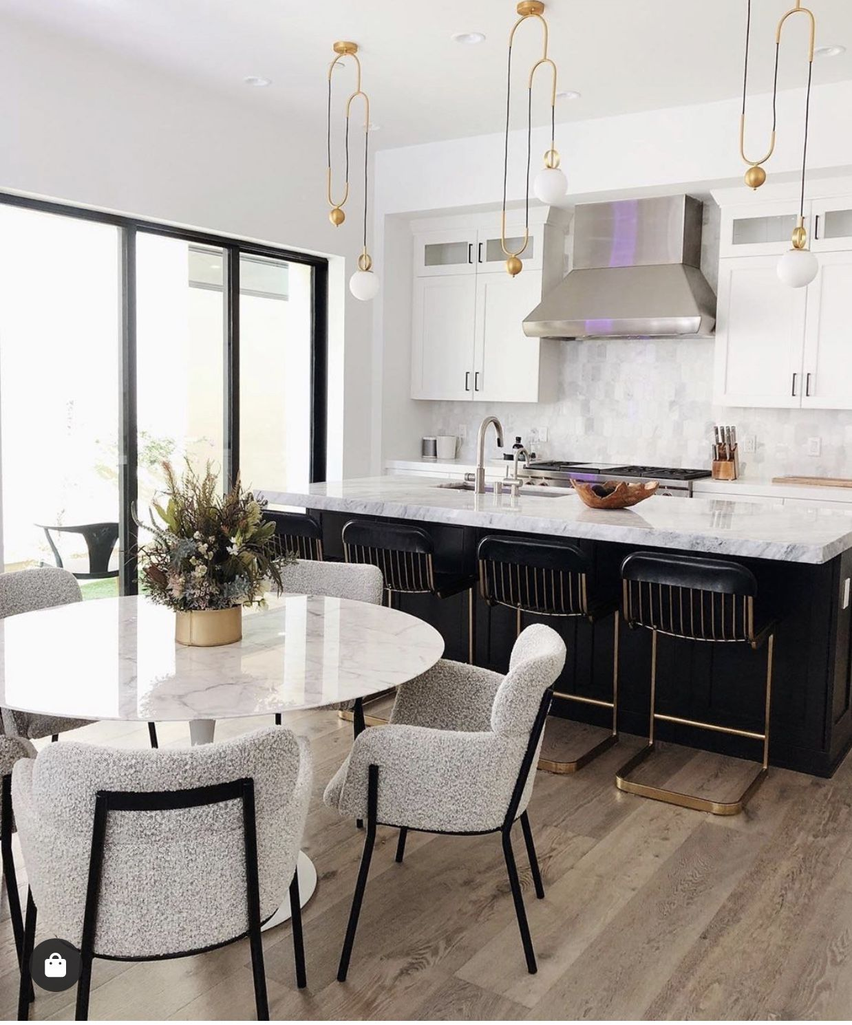 Open concept modern kitchen   Dining room small, Apartment dining ...