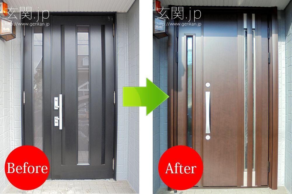 玄関ドア交換の施工事例 三協アルミ Locker Storage Decor Home