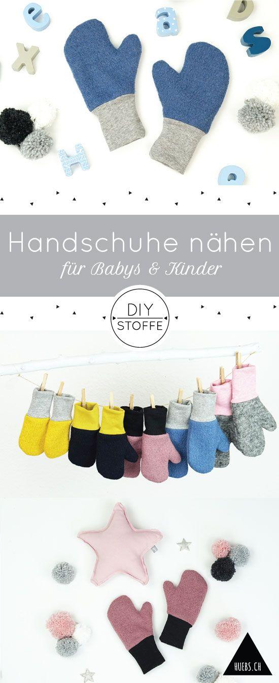 DIY Handschuhe/Fäuslinge für Babys & Kinder - Nähanleitung und Schnittmuster bei diy-stoffe.de - auch für Nähanfänger geeignet #baby