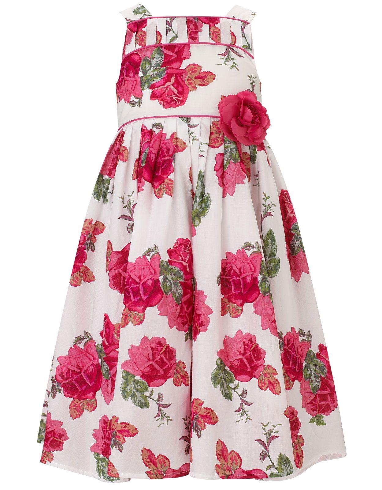 Kleid mit Blütenmusterdruck | Weiß | Monsoon | Fashion for Kids ...