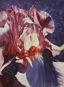 Iris Painting - Iris Too by Cheryl Wooten