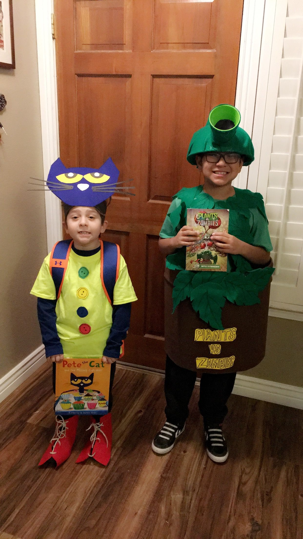 Pete The Cat And Pea Shooter Costumes For Character Book