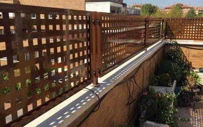Valla metalica de chapa perforada asadores ideas p rgolas pinterest vallas vallas - Valla metalica jardin ...
