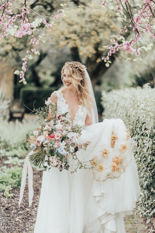 Disney princess bride sleeping beauty inspired wedding