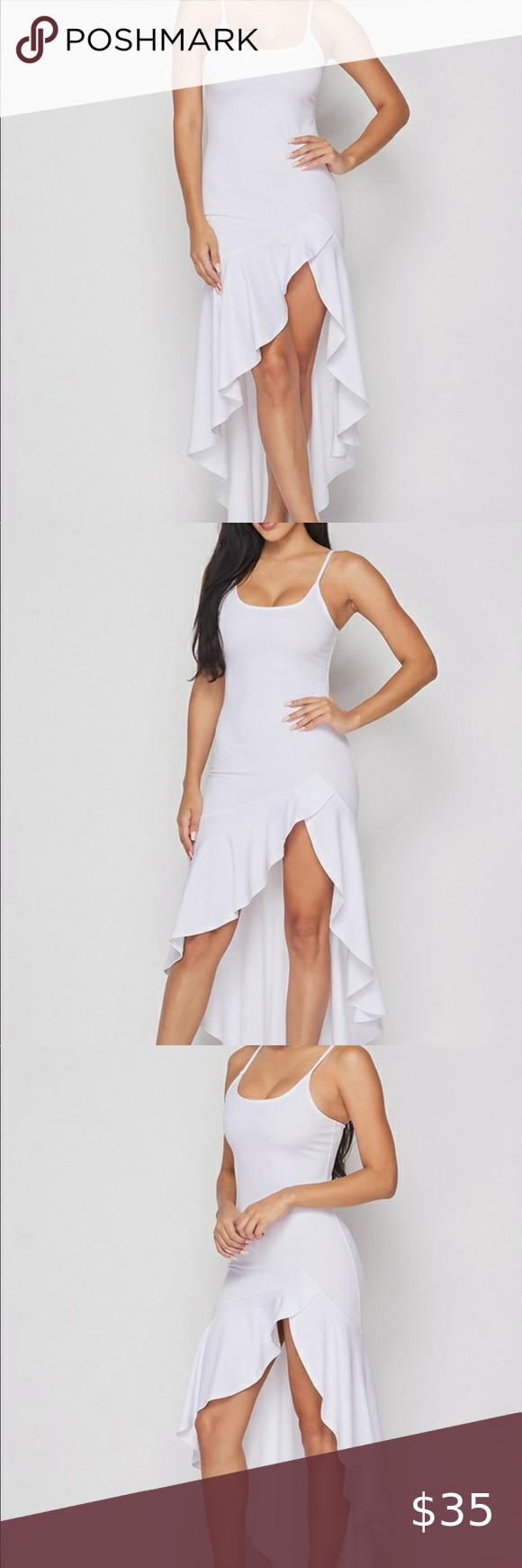 White Spaghetti Strap Maxi Ruffle Stretchy Dress Stretchy Dress Colorful Maxi Dress Ribbed Maxi Dress [ 1740 x 580 Pixel ]
