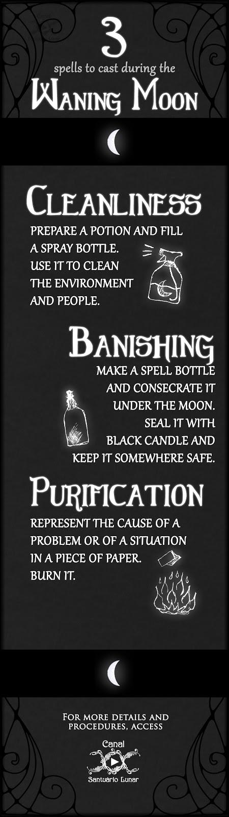 Wiccan Waning Moon Spells: Clean | Banish | Purificate (+1 Calendar)