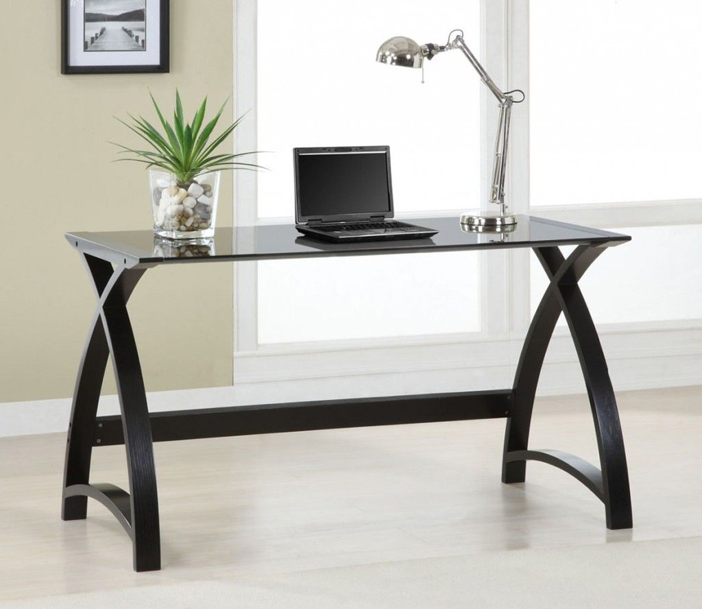 Captivating Furniture,New Model Desk Design Ideas With Cool Rectangular Glass  Countertop On Combined Modern Stainless