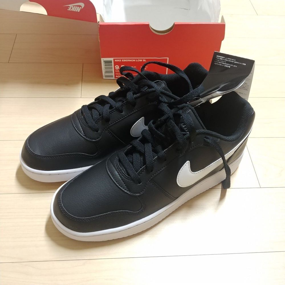 ae33d85945512 Nike Ebernon Low SL  AQ1776-002  Men Black White (US 9.5   EUR 43 ...