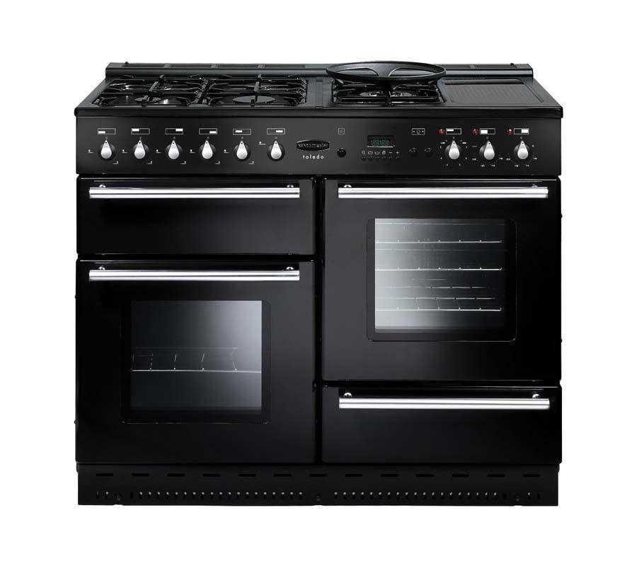 Rangemaster Toledo Natural Gas Black Range Cooker - Cuisiniere electrique et gaz pour idees de deco de cuisine