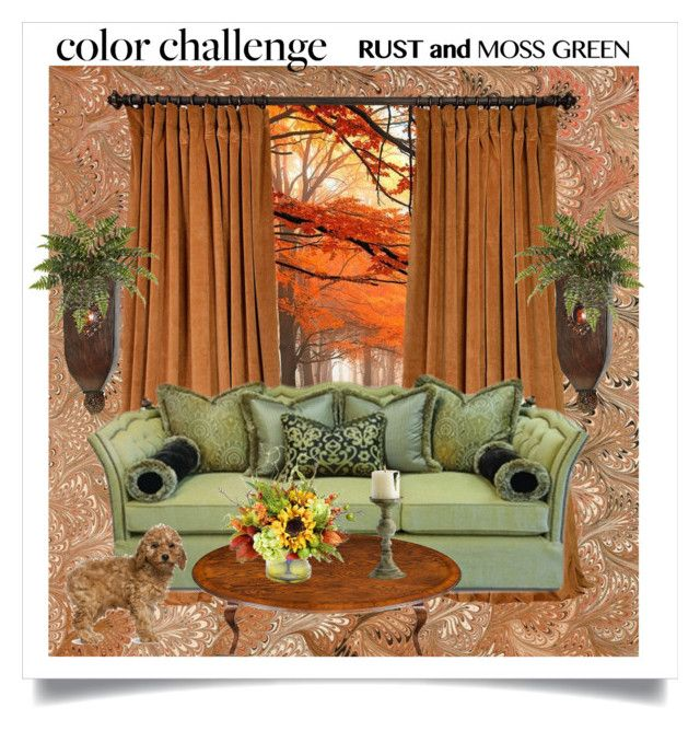 color challenge moss green and rust by karen bachman liked on