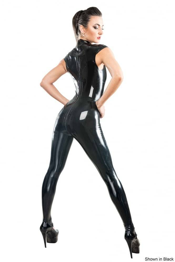 Lucy punch in catsuit leather latex