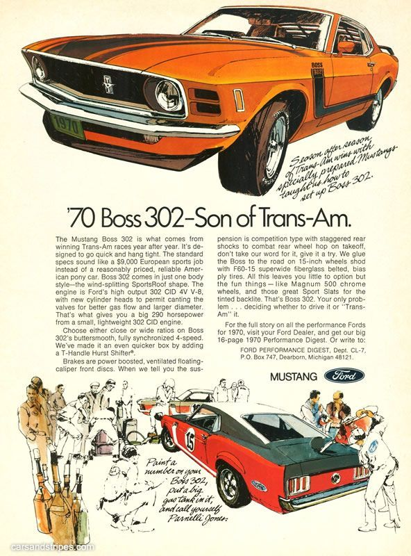 Awesome Ford: 1970 Ford Mustang Boss 302 - Son of Trans-Am ...