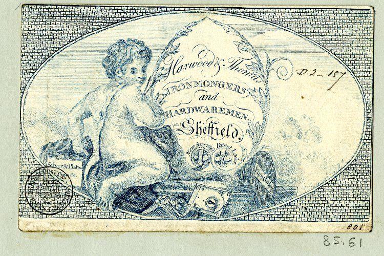 Trade-card of Harwood &Thomas, ironmongers and hardwaremen.