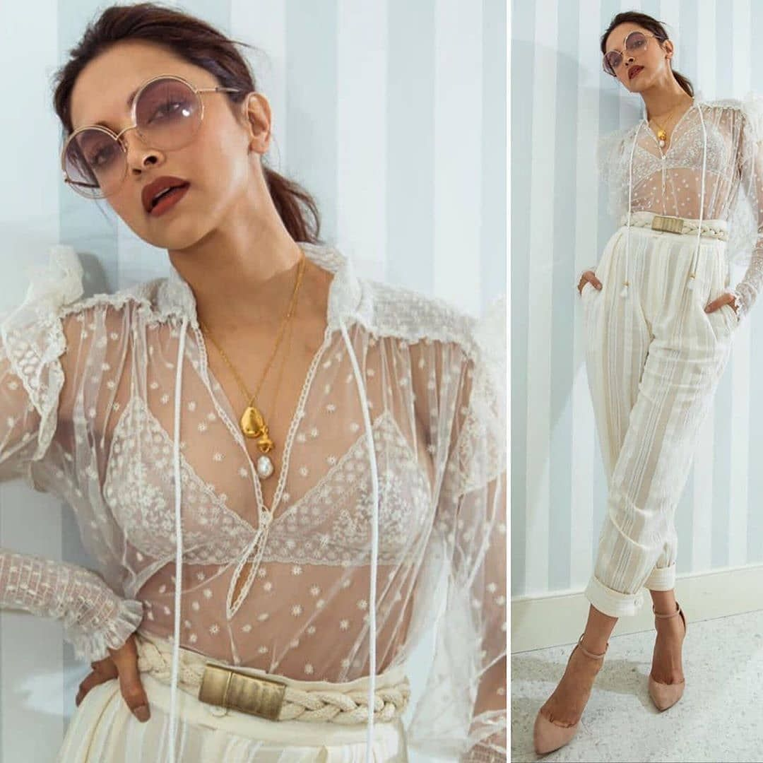 Deepika Padukone in Cannes, 2019, chic in all white summer ...