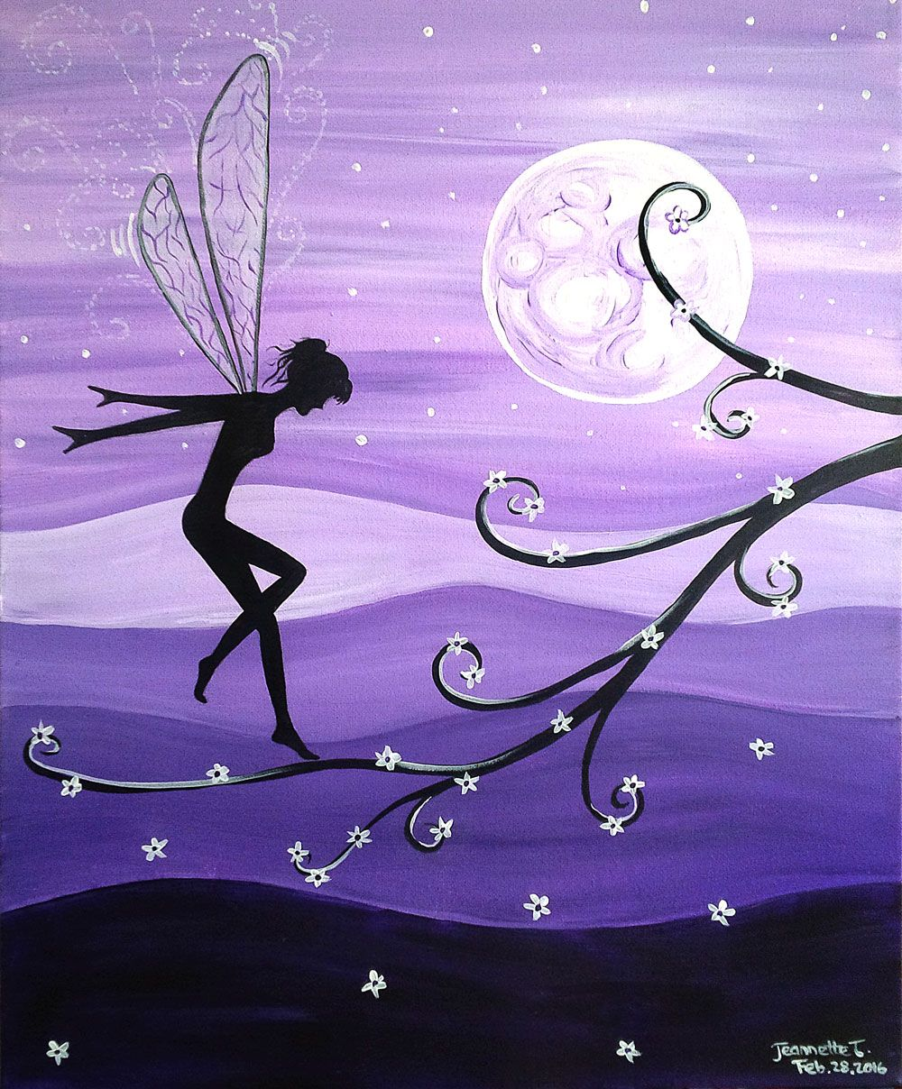 Paint nite drink paint party we host painting events for Fairy painting easy