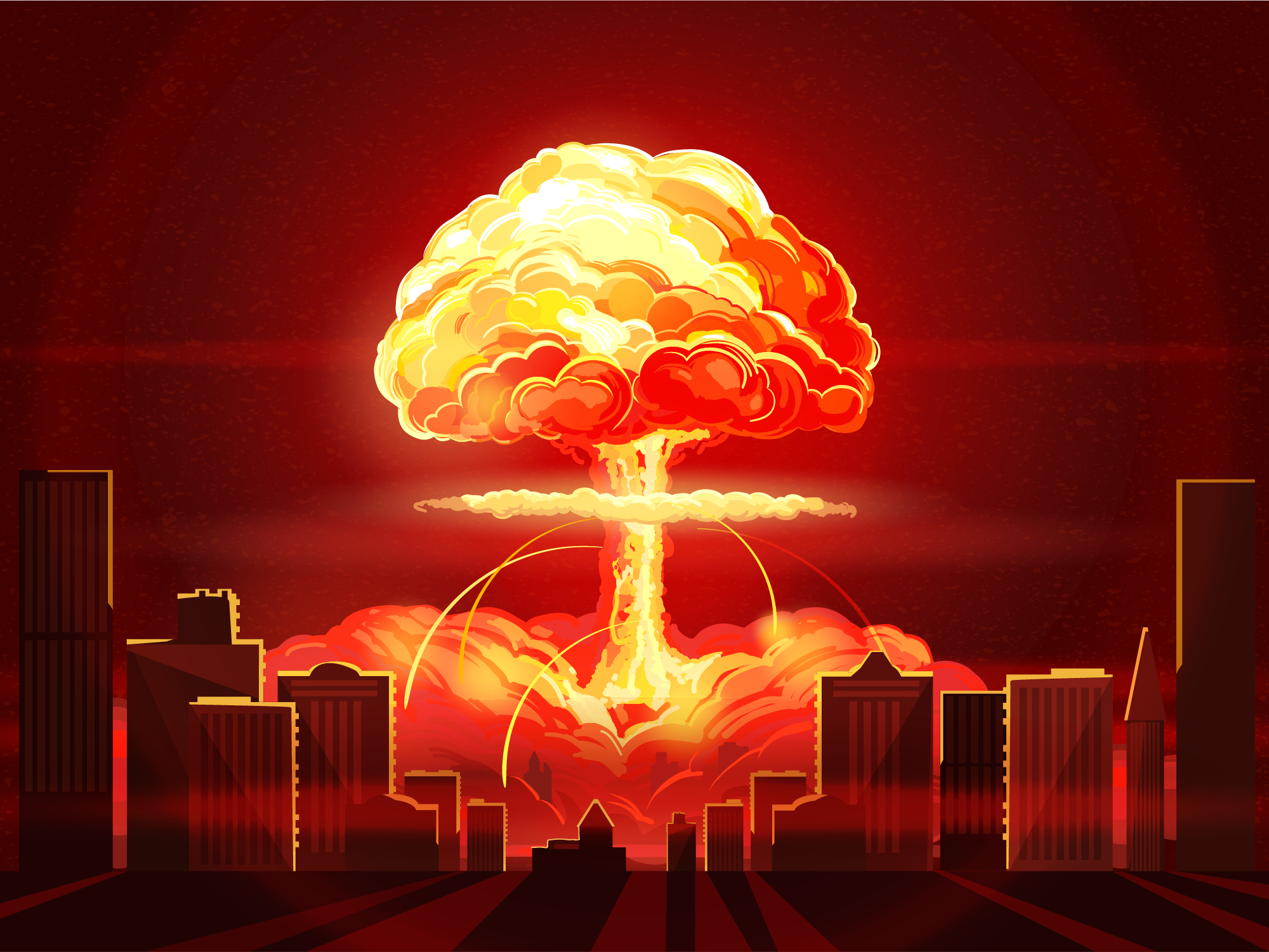 Nuclear Explosion Map Simulates Fallout Clouds Using Local Weather Nuclear Bomb Explosion Drawing Atomic Bomb