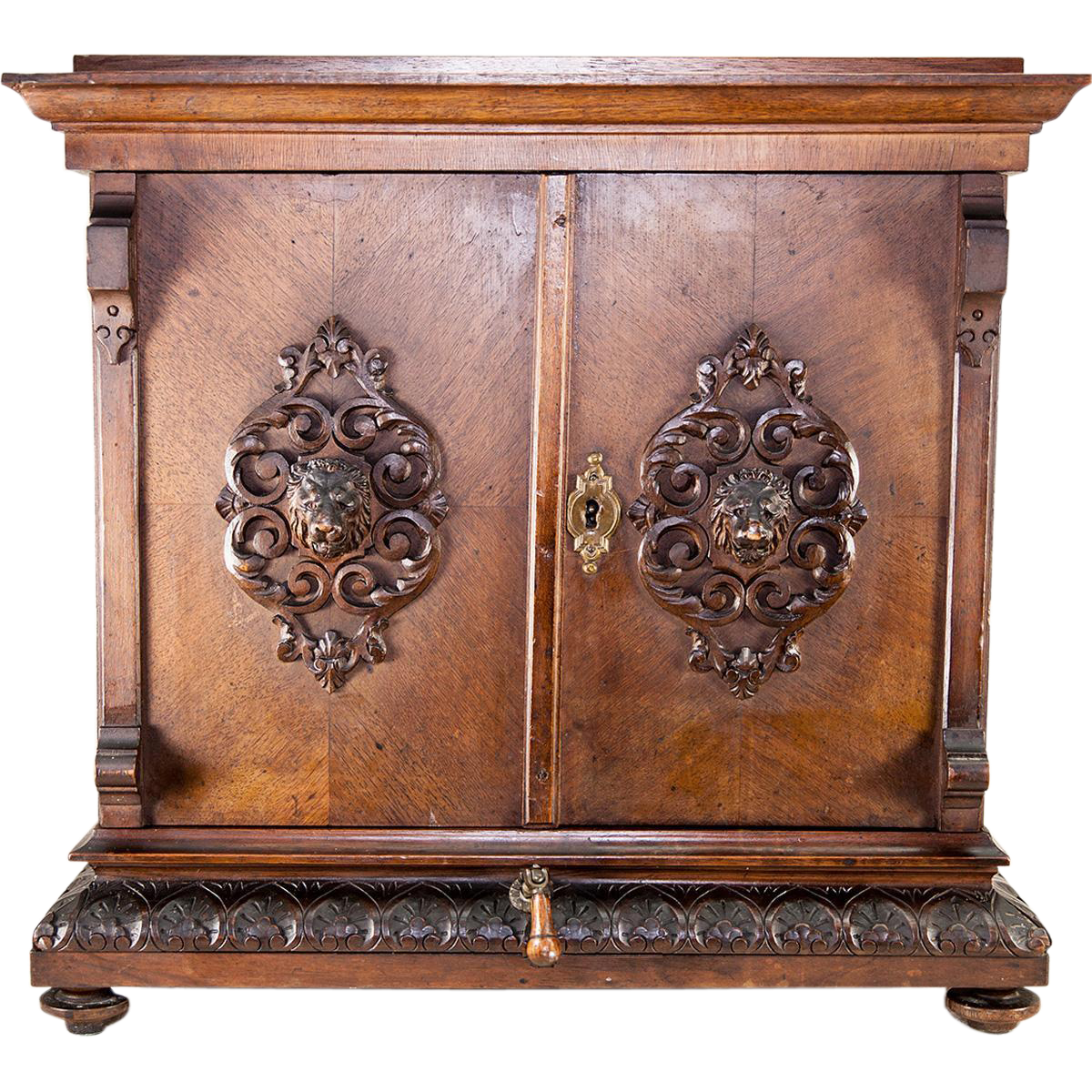 Superb Antique Victorian Era Carved Curio Or Apothecary Cabinet, Box, 18 Tall  Chest