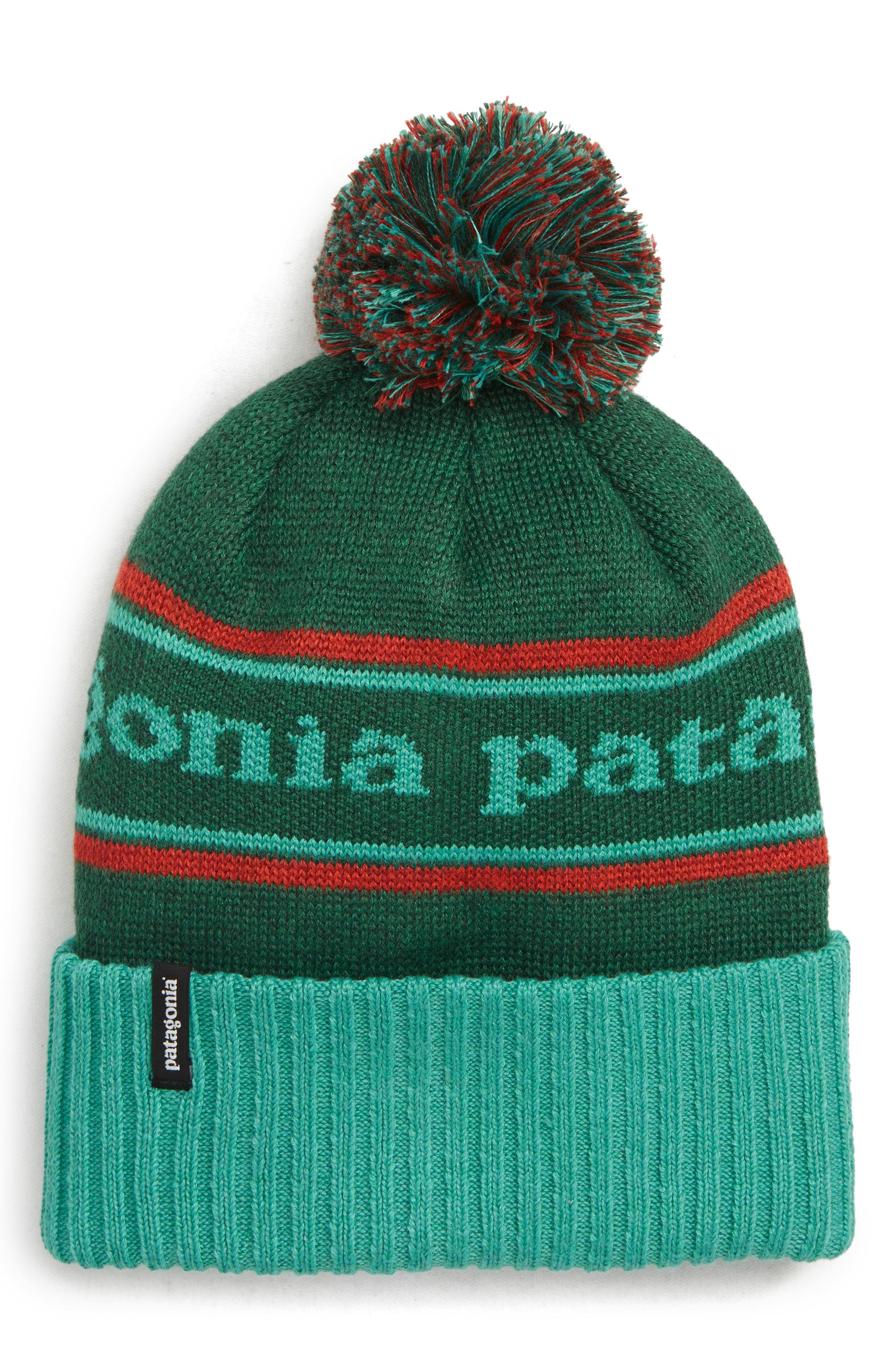 e3c287829a0 PATAGONIA POWDER TOWN BEANIE - GREEN.  patagonia