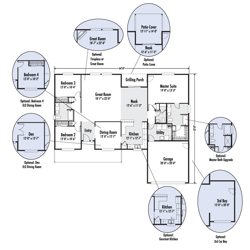 The Willamette | Custom Floor Plan | Adair Homes | House Plans