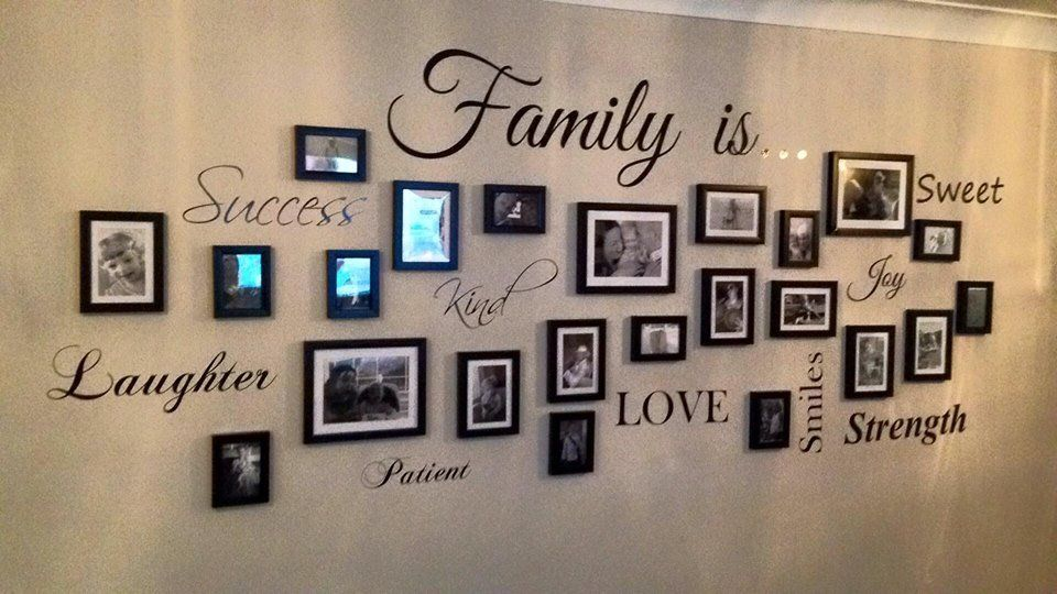 Family Picture Wall Art Quote Decal Sticker Sign Wall Stickers Hallway Wall Stickers Family Wall Art Quotes Family