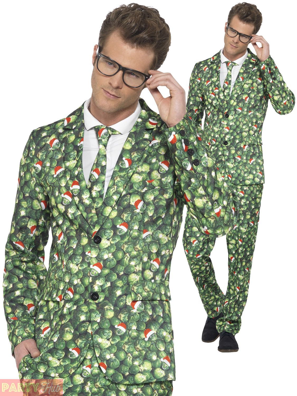 24a51839175 Mens-Christmas-Suit-Brussel-Sprout-Pattern-Funny-Festive-Fancy-Dress-Costume