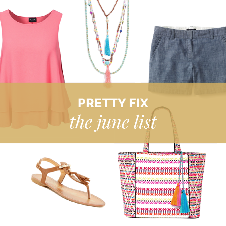Your June Pretty Fix is here!  See my top five picks this month to stay in style at a price you'll love! #prettyfix  Pretty Fix:  The June List http://getyourprettyon.com/pretty-fix-june-list/?utm_campaign=coschedule&utm_source=pinterest&utm_medium=Alison%20Lumbatis%20%7C%20Get%20Your%20Pretty%20On&utm_content=Pretty%20Fix%3A%20%20The%20June%20List