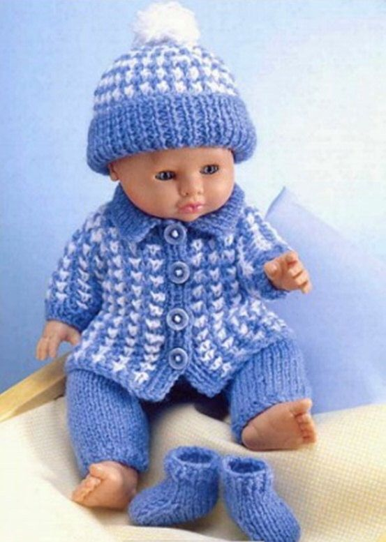 Doll Clothes Dk Knitting Pattern 99p By Heritageknitting1 On Etsy