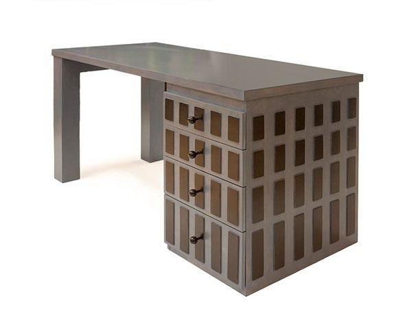 Desk with black rectangles by Sandra Catsburg, via Behance. --- Bureau met zwarte vlakjes.
