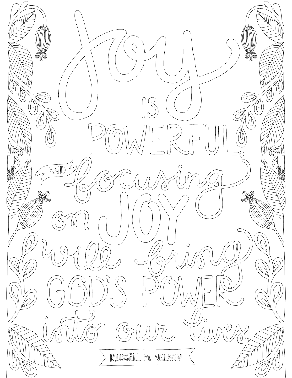 Just What I Squeeze In Fullness Of Joy Coloring Page Quote Coloring Pages Lds Coloring Pages Coloring Pages