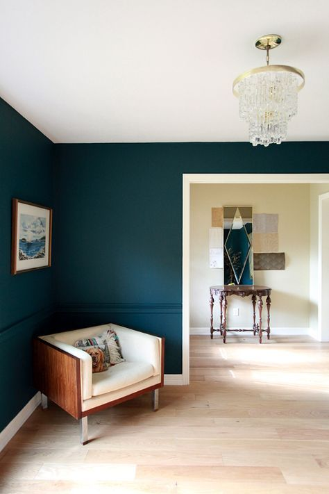 Benjamin Moore Dark Harbor Paint Color Would Be Gorgeous In An Office Home Home Decor Interior