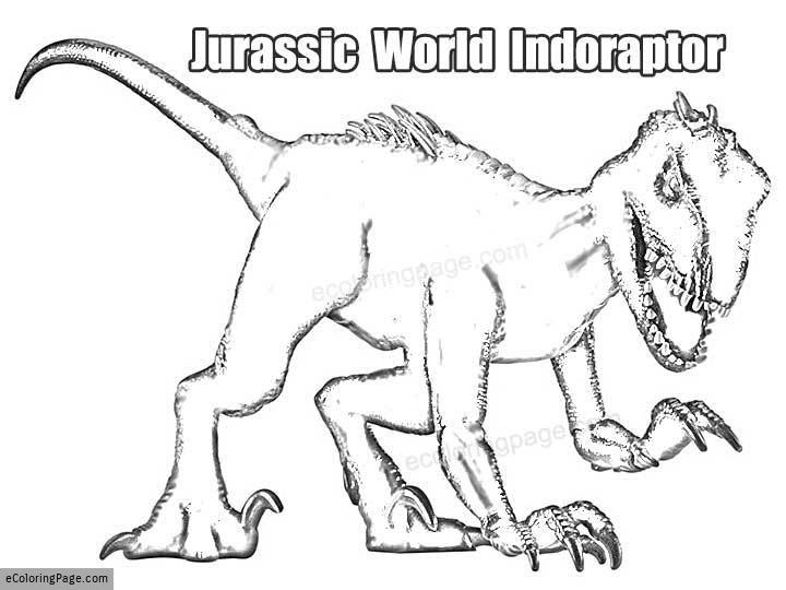 Printable Jurassic World Indoraptor Dinosaur Coloring Page Luke