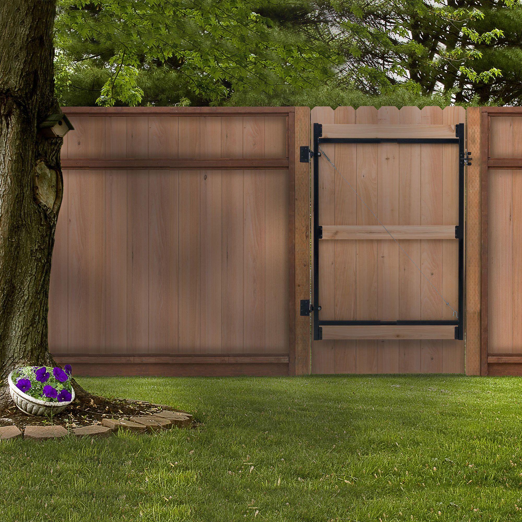 Gate Frame Kit Adjust-A-Gate Steel Hardware Pack Frame Bars Latch Set 36-60 in