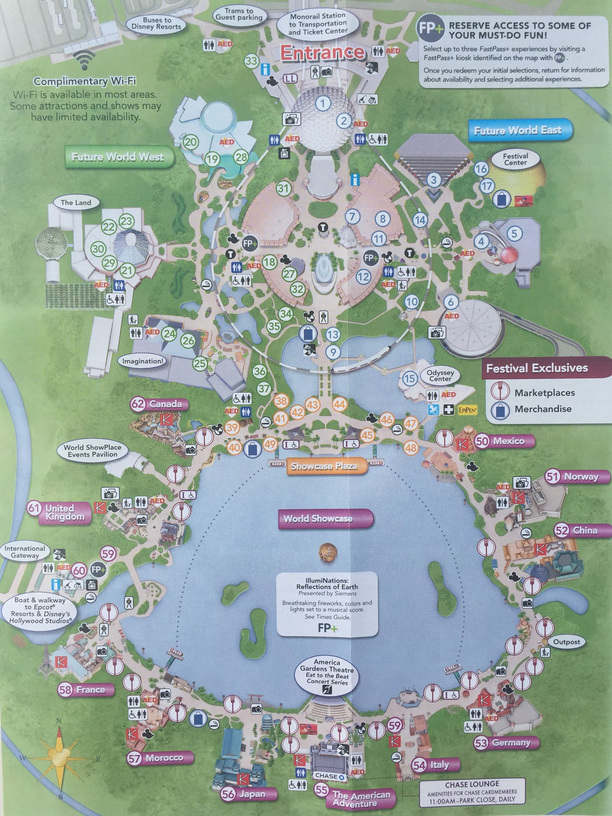 epcot food and wine festival map | Disney world epcot map ...