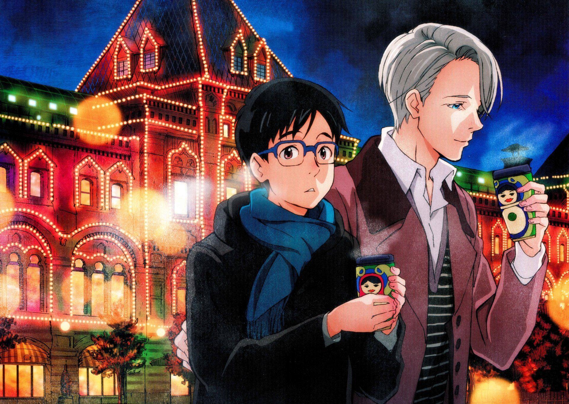 Anime Yuri On Ice Yuuri Katsuki Viktor Nikiforov Wallpaper