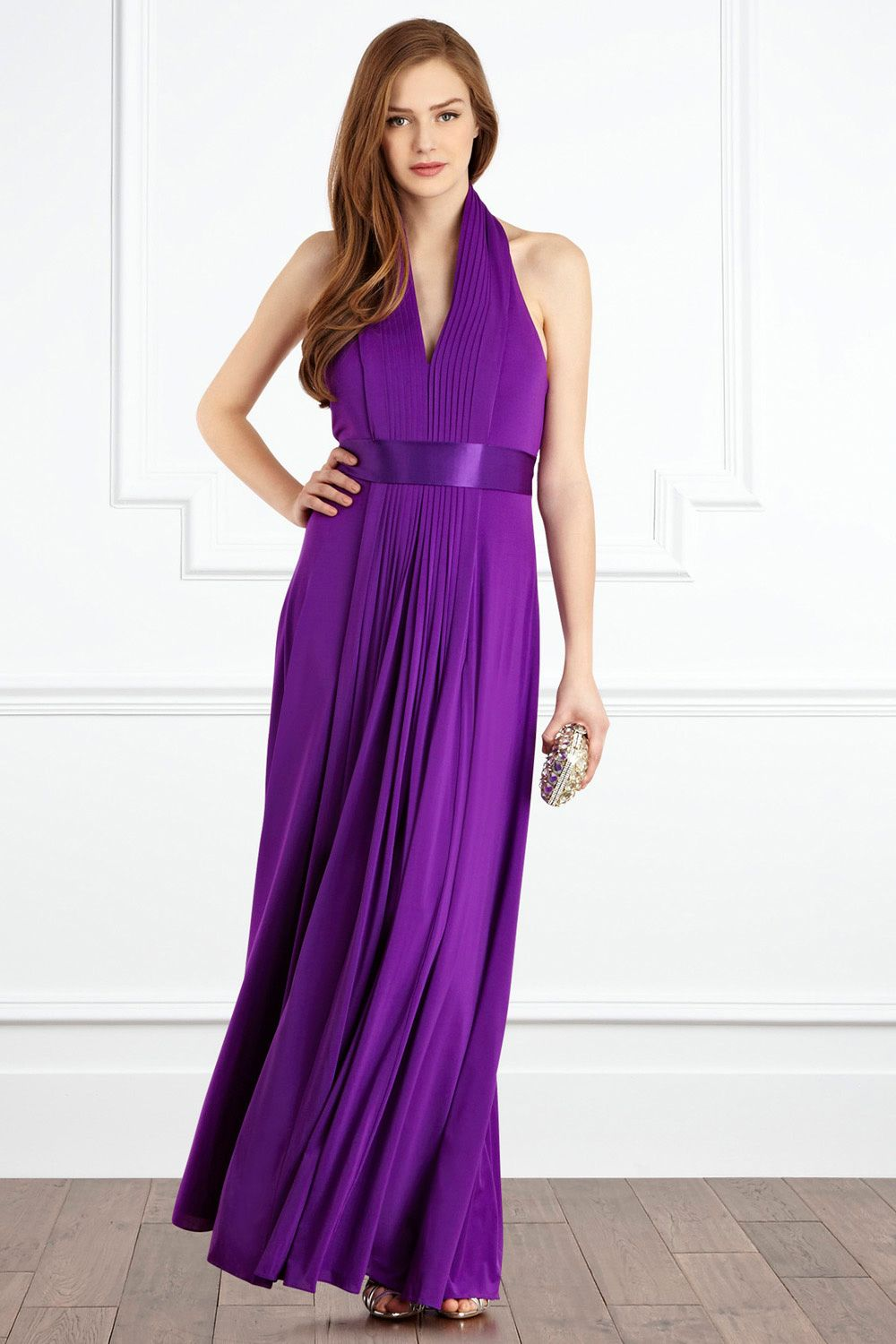 Purple bridesmaid dress from the high street bridesmaid for Purple maxi dresses for weddings
