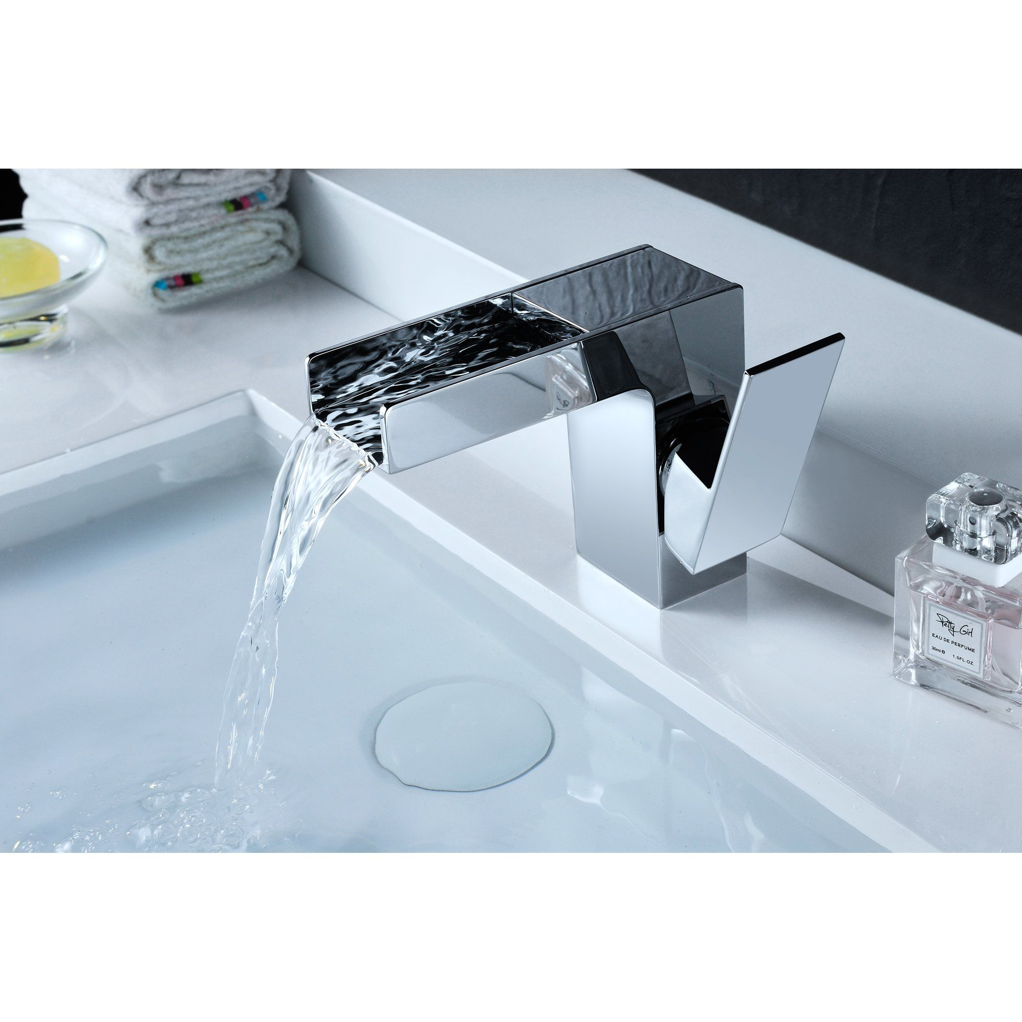 Zhona Single Handle Standard Lever Bathroom Faucet with Drain ...