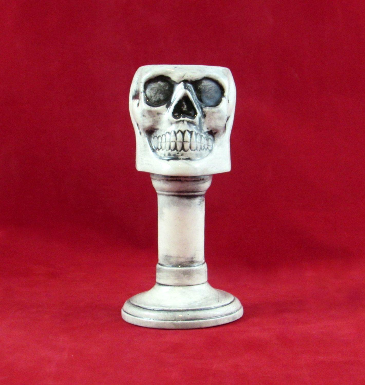 Ceramic Skull Goblet -6.75 inches by aarceramics on Etsy